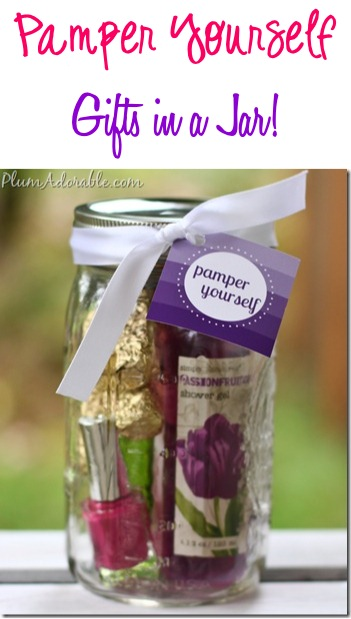 Pamper Yourself Gifts in a Jar Ideas at TheFrugalGirls.com