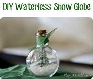 DIY Waterless Snow Globe Craft