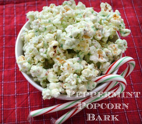 Peppermint Popcorn Bark Recipe