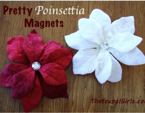 Pretty Poinsettia Magnets