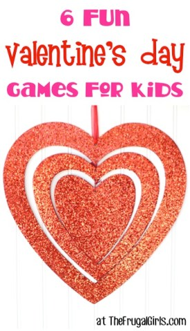6 Fun Valentine's Day Games for Kids at TheFrugalGirls.com