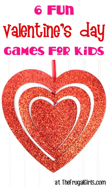 6 Valentine's Day Games for Kids at TheFrugalGirls.com