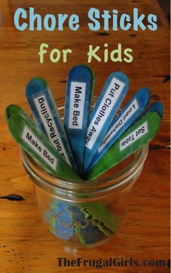 Chore Sticks Kids Chores