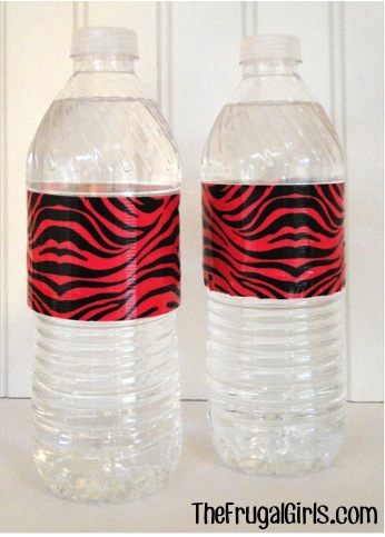 Party Water Bottles from TheFrugalGirls.com