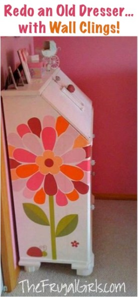 Redo Old Dresser with Wall Clings