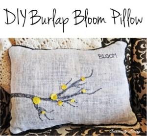 DIY Burlap Bloom Pillow