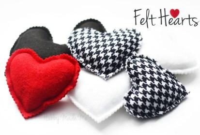 Felt Hearts Craft Tutorial