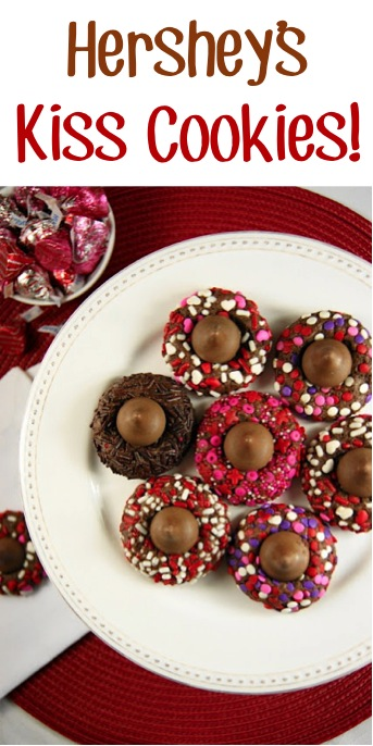 Chocolate Valentine Kiss Cookies Recipe at TheFrugalGirls.com