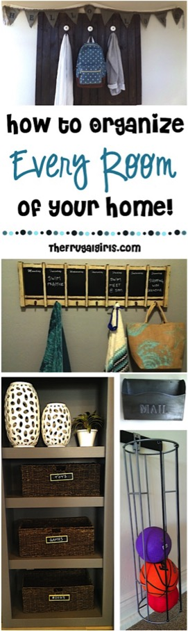 Home Organizing Tips and Tricks! {For Every Room}