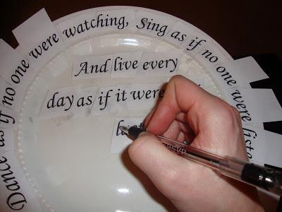 Pencil Stencil Plate Craft