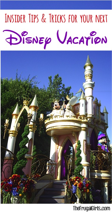 Disneyland and Disney World Travel Tips at TheFrugalGirls.com