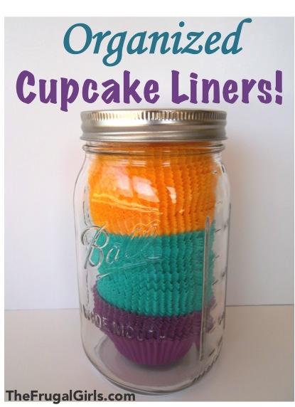 Organize Cupcake Liners at TheFrugalGirls.com