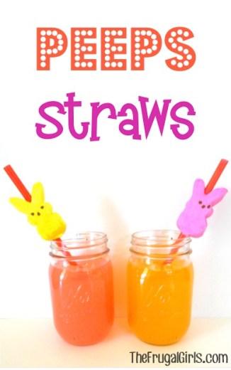 Peeps Straws at TheFrugalGirls.com