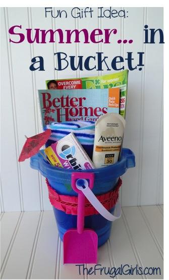 Summer in a Bucket! {Fun Beach Gift Ideas}