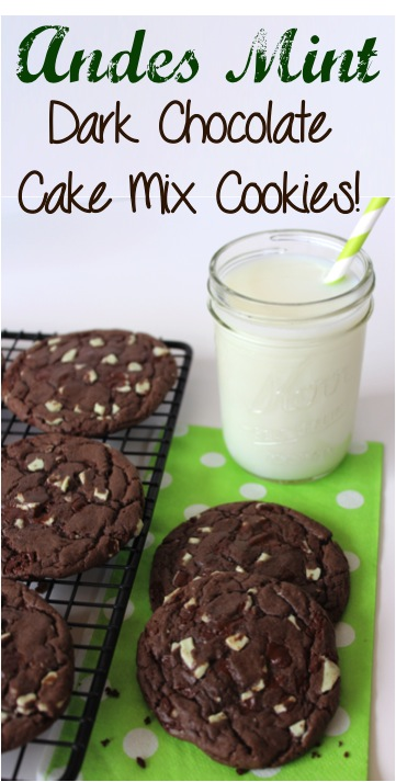 Easy Andes Mint Cookies Recipe at TheFrugalGirls.com