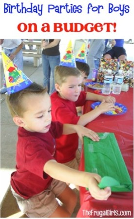 Birthday Party Ideas for Boys - on a Budget at TheFrugalGirls.com