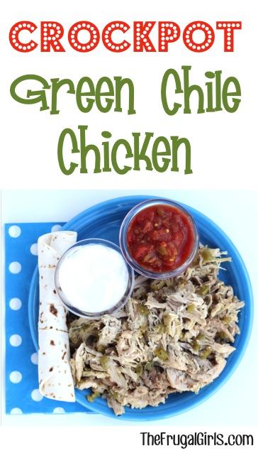 Crockpot Green Chile Chicken Recipe - from TheFrugalGirls.com