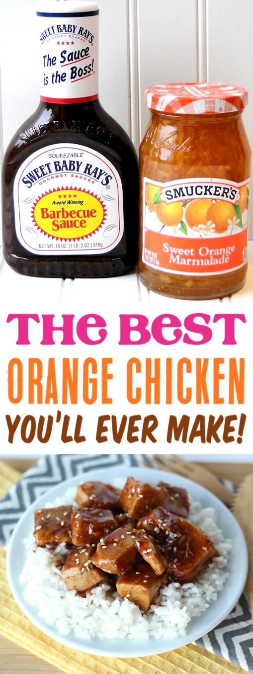 Crockpot Orange Chicken Recipe Easy Slow Cooker Dinner - Just 4 Ingredients