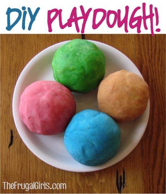 Homemade Playdough Recipe from TheFrugalGirls.com