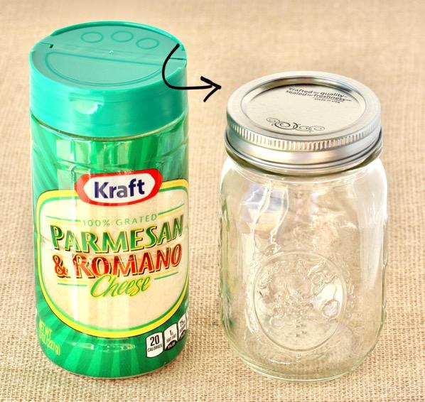 Mason Jar Parmesan Lid