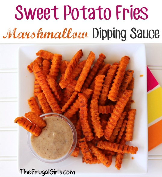 Marshmallow Cream Dipping Sauce for Sweet Potato Fries from TheFrugalGirls.com