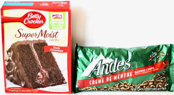 Andes Mint Cookies Recipe with Cake Mix