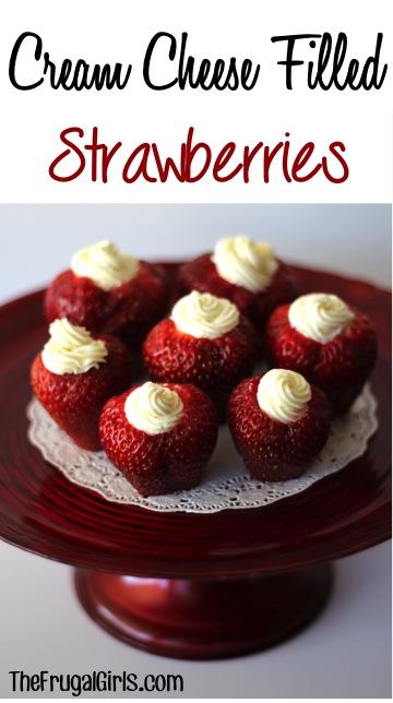 Cream Cheese Filled Strawberries