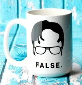 "Dwight Schrute ""False"" Coffee Mug"