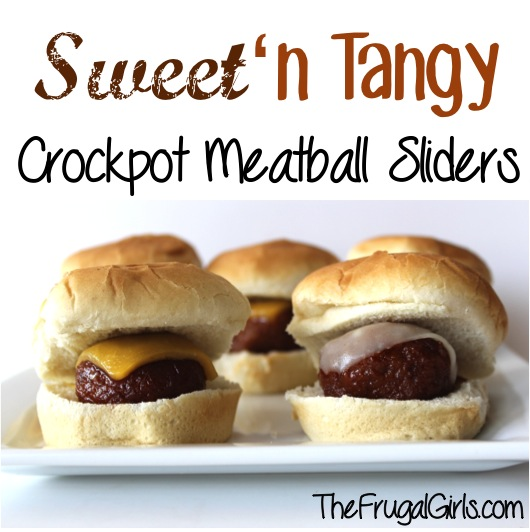 Easy Meatball Sliders Recipe in Crockpot from TheFrugalGirls.com