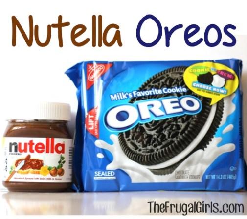 Nutella Oreo Cookies