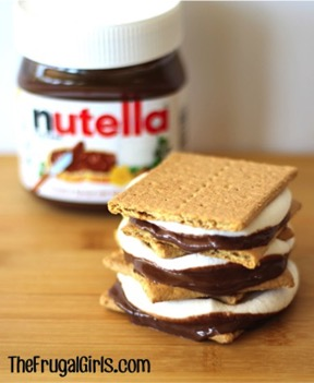 Nutella S'Mores Recipe from TheFrugalGirls.com