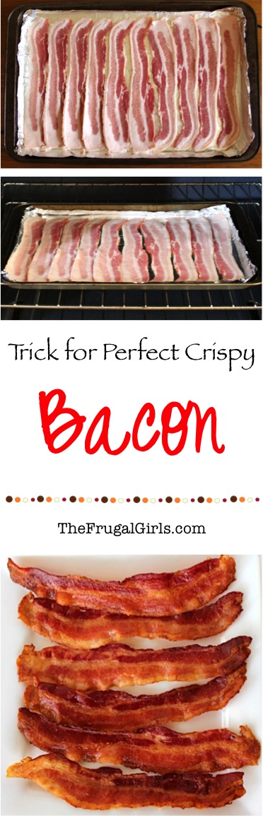Perfect Crispy Bacon Trick from TheFrugalGirls.com