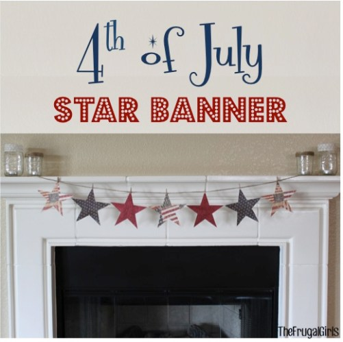 4th of July Star Banner