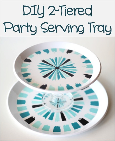 DIY 2-Tiered Party Serving Tray from TheFrugalGirls.com