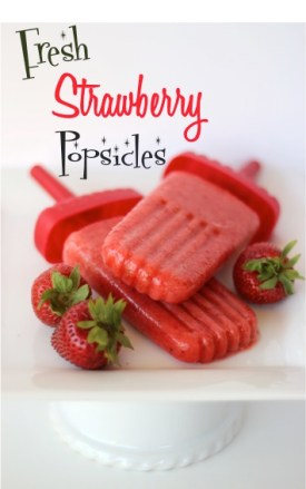 Fresh Strawberry Popsicles Recipe