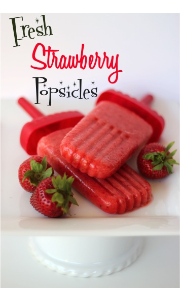 Fresh Strawberry Popsicle Recipe | TheFrugalGirls.com