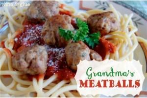 Grandma's Italian Meatballs Recipe at TheFrugalGirls.com