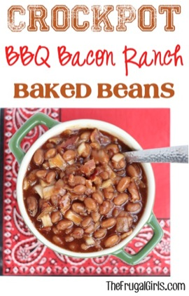 Crockpot BBQ Bacon Ranch Beans