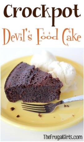 Crockpot Devils Food Cake