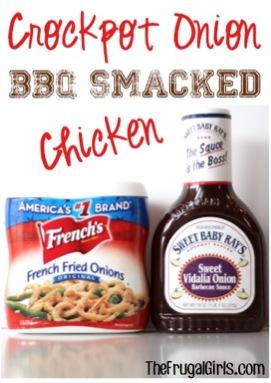 Crockpot Onion BBQ Smacked Chicken