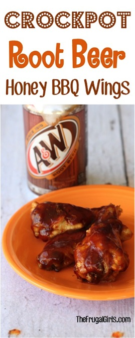 Crockpot Root Beer Honey BBQ Wings Recipe