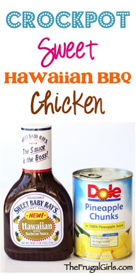 Crockpot Sweet Hawaiian Barbecue Chicken Recipe