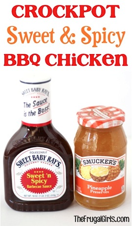 Crockpot Sweet and Spicy BBQ Chicken
