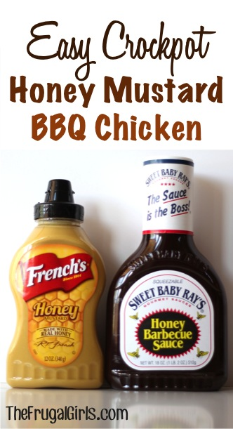 Crockpot Honey Mustard BBQ Chicken Recipe from TheFrugalGirls.com