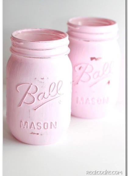 How to Distress Painted Mason Jars