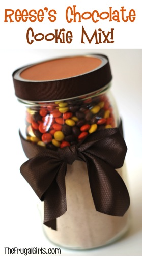 Reese's Pieces Chocolate Cookie Mix in a Jar