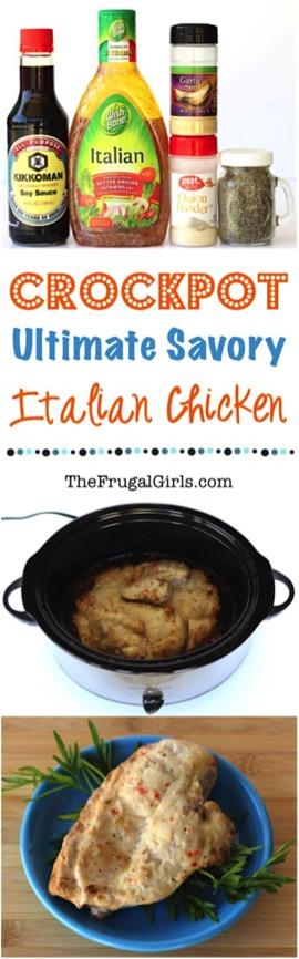 Savory Crock Pot Italian Chicken