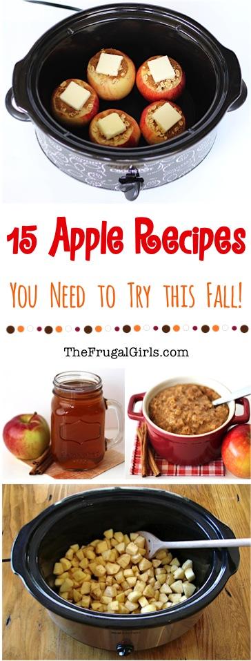Amazing Apple Recipes at TheFrugalGirls.com