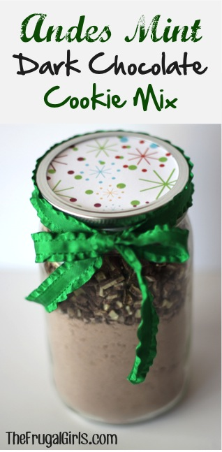 Andes Mint Cookie Mix in a Jar