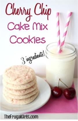 Cherry Chip Cake Mix Cookies